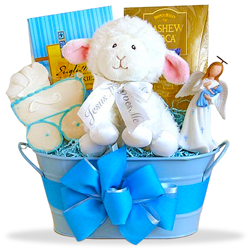 Naming Angels Boy's Christening Basket