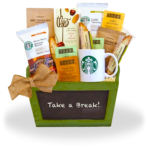 Starbucks Break Gift Basket