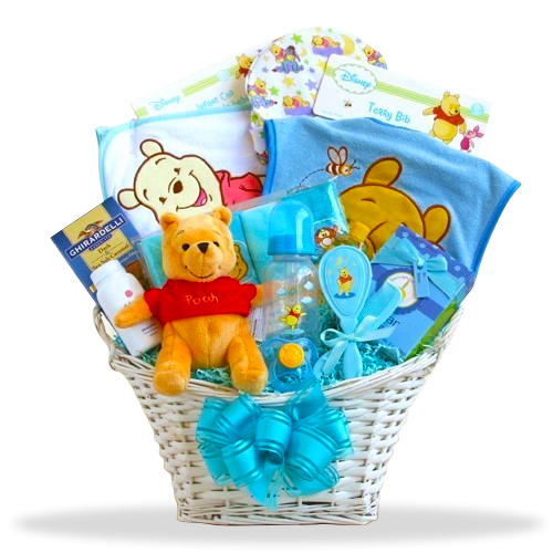 Pooh's Joyful Boy Basket