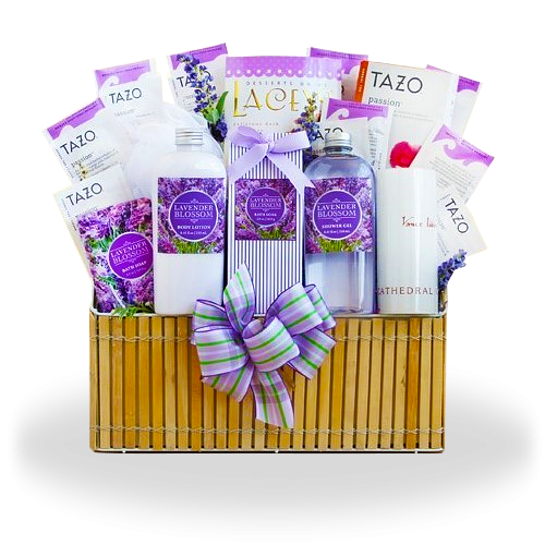 Lavender Ultimate Spa Gift Basket By Broadwaybasketeers Com: Find The Stunning Lavender Spa Gift Basket Ship To USA