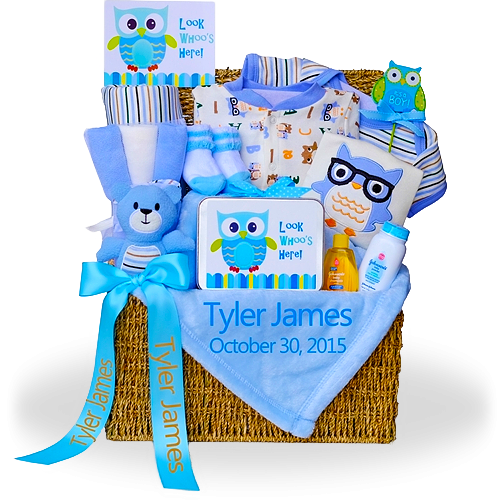 An Adorable Owl Gift Trunk for Boys