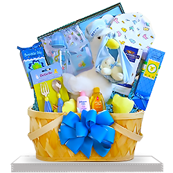 Big Plush Stork's Best Boy Delivery Gift Basket