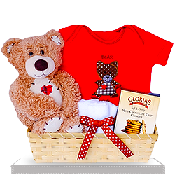 Kisses and Hugs for Your Baby Bear Gift Basket