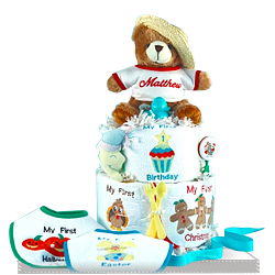 Get Your Baby's First Holiday Plush Bear Baby & Bibs Gift Set