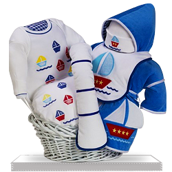 A Cheerful Sailor Newborn Baby Boy Gift Set