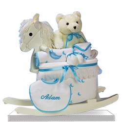 Rocking Horse Gift Set for a Baby Boy