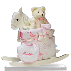 Rocking Horse Gift Set for a Baby Girl