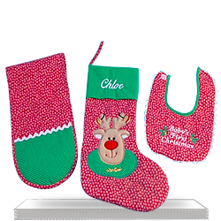 Find Unique Christmas Stocking Personalized Baby Gift Set