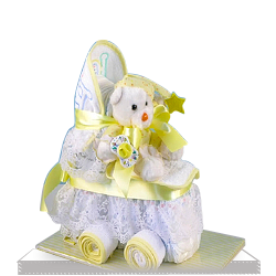 Plush Baby Shower Diaper Cake Carriage Gift Set