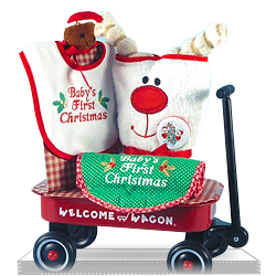 Creative Christmas Magic for the First Time in Baby's Life Wagon