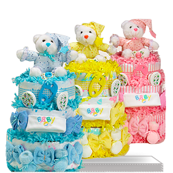 Triple Decker Delight Sweet Diaper Cake US Shipping