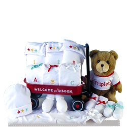 Triplet Welcome Wagon Baby Gift Set