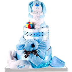 Puppy is the Best Friend for a Baby Boy Diaper Cake