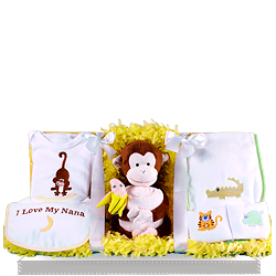Love My Nana Jungle Baby Layette Gift Set
