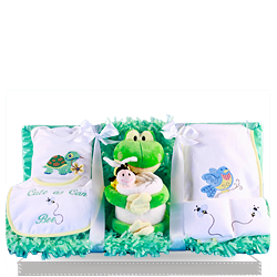 Plush Frog and Bee Baby Gift Set