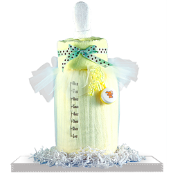 A Blanket Bottle Baby Shower Gift Basket