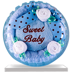 Order Sweet Baby Hooded Towel Cake Gift for Baby Boy