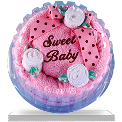 Order Sweet Baby Hooded Towel Cake Gift for Baby Girl