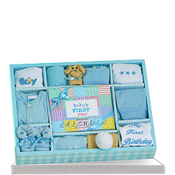First Year Baby Boy Personalized Gift Set ship to USA
