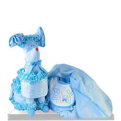 Little Baby Boy Puppy Diaper Gift Set