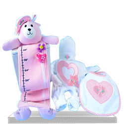 Get Perfect Flowers and Hearts Gift Set for Baby Girl