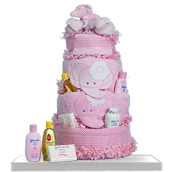 Quality Pie Elephant Diaper Cake Gift for Baby Girl US Shipping