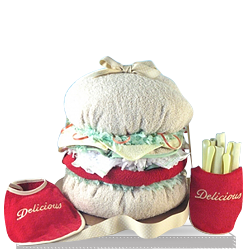 Twin Double Whopper Baby Gift Basket