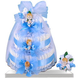 Order Delightful Baby Boy Diaper Cake Gift Set