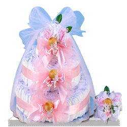 Looking for Delightful Baby Girl Diaper Cake Gift Set