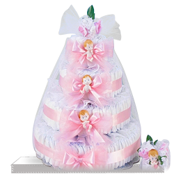 Get Delight Baby Girl Diaper Cake Gift to send to USA