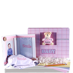 High quality  Keepsake Album & Photo Frame Baby Girl Gift Set