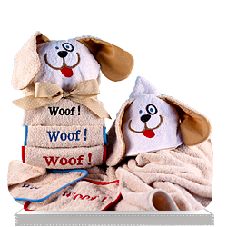 Creative Hooded Puppy Towel Gift Set for Baby Personalized