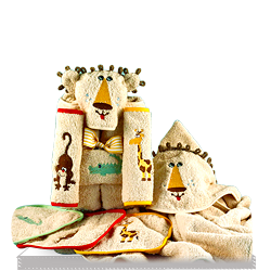 Personalized King of the Bath Lion Hooded Towel Gift Set