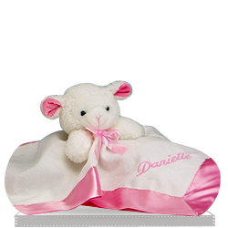 Lamby Nap Time Personalized Gift Set for Girl