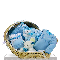 Moses Basket Deluxe for Little Prince Gift Basket for Boy
