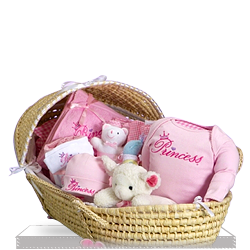 Moses Basket Deluxe for Little Prince Gift Basket for Girl