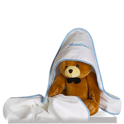 Buy Personalized Hooded Towel with Plush Bear for Baby Boy