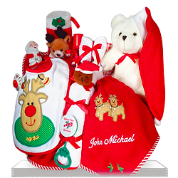 Merry Christmas Baby Gift Basket for delivery to US
