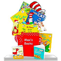 Dr. Seuss Books Gift Basket for Baby Boy or Girl