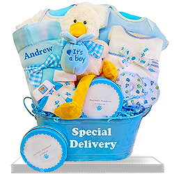 It's a Boy Goodies for the Little plush stork gift