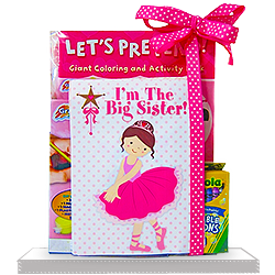 Coloring Book with Ballerina Big Sister Gift Set