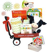Plush Cow and Lamb Rattle Radio Flyer Wagon