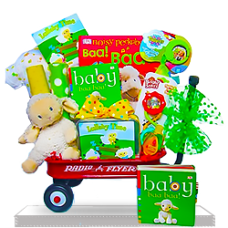 Fun Gift Basket Little Lamb's Plush Radio Flyer Mini Wagon