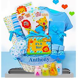 New Baby Boys Gift Basket Fun Safari
