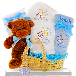 Teddy Bear Sweet and Soft Boy's Gift Basket