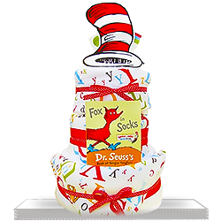 Dr. Seuss Plush Terry Seussical 3-Tiered Diaper Cake