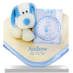 Personalized Set for Boys Fluffy Fattamano Keepsake