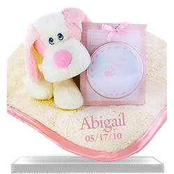 Fluffy Fattamano Personalized Keepsake Set for Baby Girl