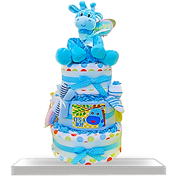 Diaper CakeBaby for Boy Bonanza three-tiered