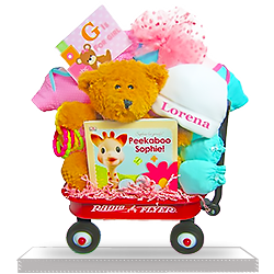 Just for Girls Gift Basket Radio Flyer Wagon